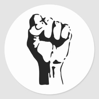 Raised Fist Classic Round Sticker