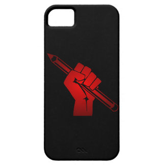 Raised Fist Holding Pencil iPhone 5 Cover