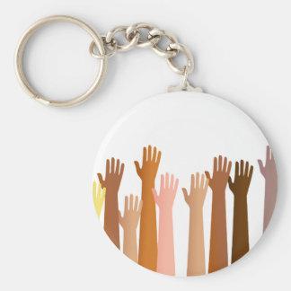 Raised Hands Key Ring