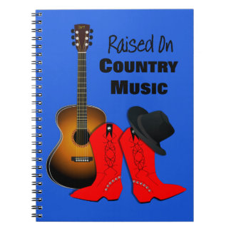 Raised on Country Music Cool Cowgirl Themed Note Book