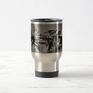 Raised Platform with Butchered Caribou or Reindeer Coffee Mug