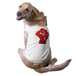 Raised Red Gradient Fist Sleeveless Dog Shirt
