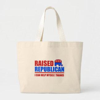 Raised Republican. I can help myself. Tote Bag