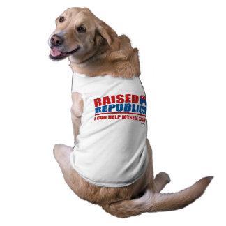 Raised Republican. I can help myself. Sleeveless Dog Shirt