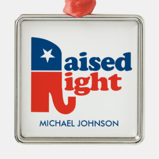 Raised Right - personalized Christmas Ornament