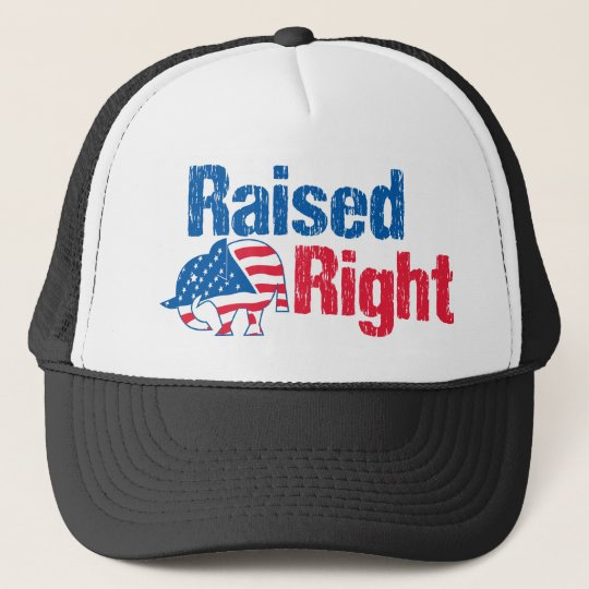 Raised Right - Republican Trucker Hat