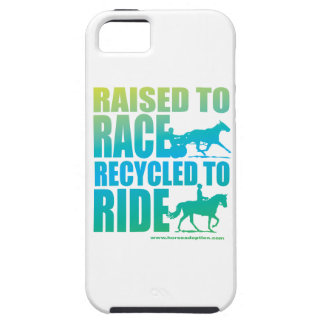 Raised to Race Recycled to Ride iPhone Case