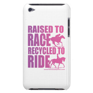 Raised to Race Recycled to Ride iPod Touch Barely There iPod Case
