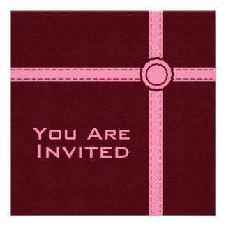 Raisin And Pink Invitation