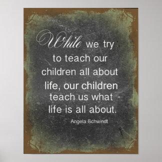 Raising Children Quote Poster