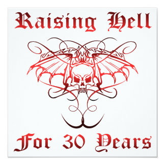 Raising Hell For 30 Years Card
