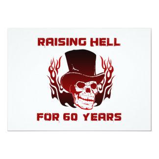 Raising Hell For 60 Years 13 Cm X 18 Cm Invitation Card