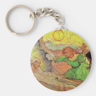Raising of Lazarus after Rembrandt by van Gogh Key Ring