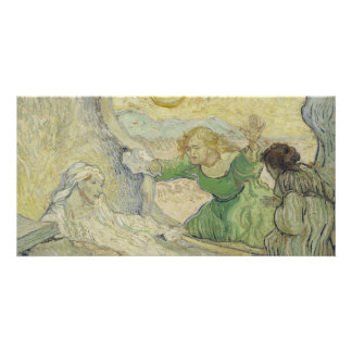 Raising of Lazarus after Rembrandt by Van Gogh Personalized Photo Card