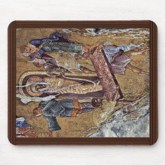 Raising Of Lazarus By Meister Der Pantanassa-Kirch Mouse Pad
