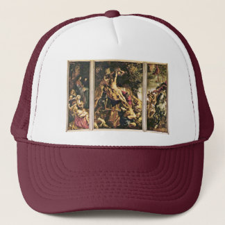 Raising Of The Cross Triptych Overview Scene From Trucker Hat