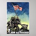 Raising The Flag On Iwo Jima -- Border