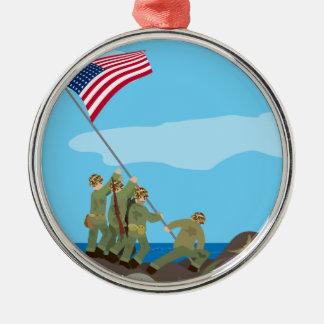 Raising the Flag on Iwo Jima (Simple History) Christmas Ornament