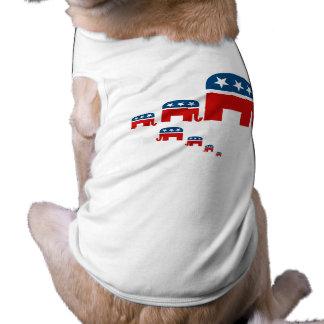 Raising them Republican Pet Tshirt