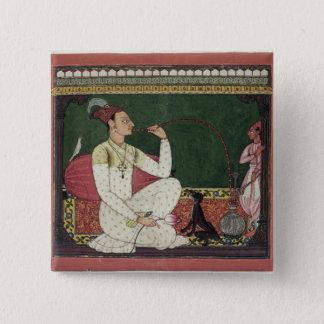 Raja Medini Pal, inscribed on the reverse in Takar 15 Cm Square Badge
