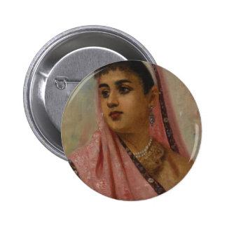 Raja_Ravi_Varma,_The_Parsee_Lady 6 Cm Round Badge