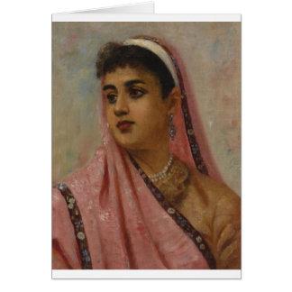 Raja_Ravi_Varma,_The_Parsee_Lady Greeting Card