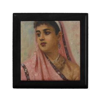 Raja_Ravi_Varma,_The_Parsee_Lady Small Square Gift Box