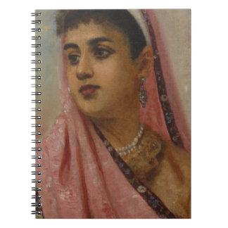 Raja_Ravi_Varma,_The_Parsee_Lady Spiral Note Book