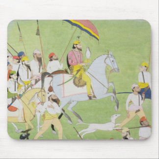 Rajah Dhian Singh (1796-1840) hunting with compani Mouse Mat