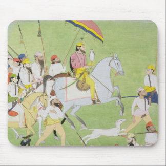 Rajah Dhian Singh (1796-1840) hunting with compani Mouse Pad