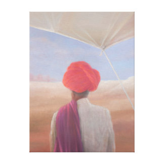 Rajasthan farmer 2012 canvas print