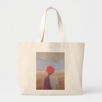 Rajasthan farmer 2012 large tote bag