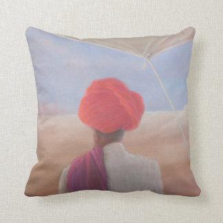 Rajasthan farmer 2012 throw pillow