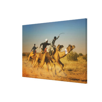 Rajasthan, India camel races in the Thar Desert Gallery Wrapped Canvas
