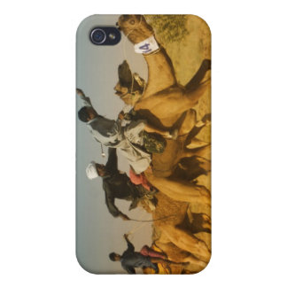 Rajasthan, India camel races in the Thar Desert iPhone 4 Cases