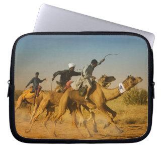Rajasthan, India camel races in the Thar Desert Laptop Sleeve