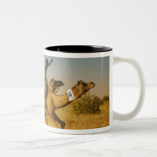 Rajasthan, India camel races in the Thar Desert Two-Tone Coffee Mug