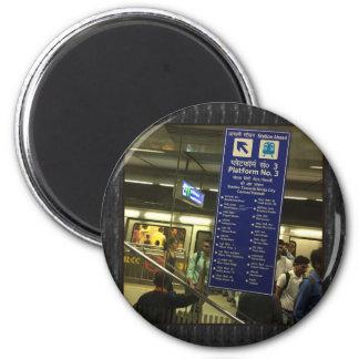 Rajiv Chowk New Delhi Metro Indian Railways Pride 6 Cm Round Magnet