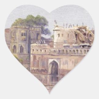 Rajput Forts by Marianne North Heart Sticker