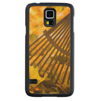 Rake And Leafs Carved Maple Galaxy S5 Case