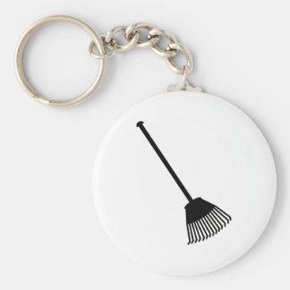 Rake Basic Round Button Key Ring