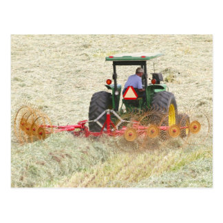 Raking Hay On A Summer Day Postcard