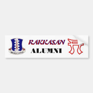 RAKKASAN 187th Alumni  Bumper Sticker