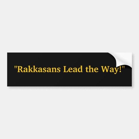 """Rakkasans Lead the Way!"" Bumper Sticker"