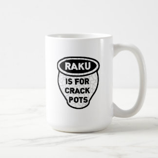 Raku is for Crack Pots Potters Coffee Mug