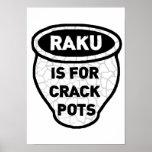 Raku is for Crack Pots Potters Poster