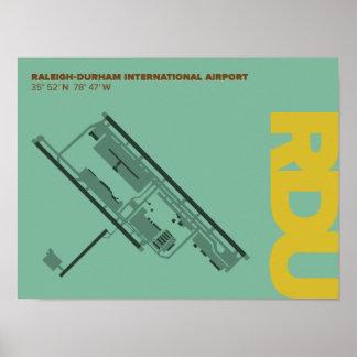 Raleigh-Durham Airport (RDU) Diagram Poster