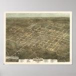 Raleigh N. Carolina 1872 Antique Panoramic Map