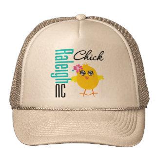 Raleigh NC Chick Trucker Hat