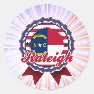 Raleigh, NC Round Sticker